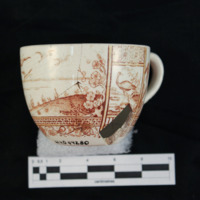 Brown transfer print cup (side b)